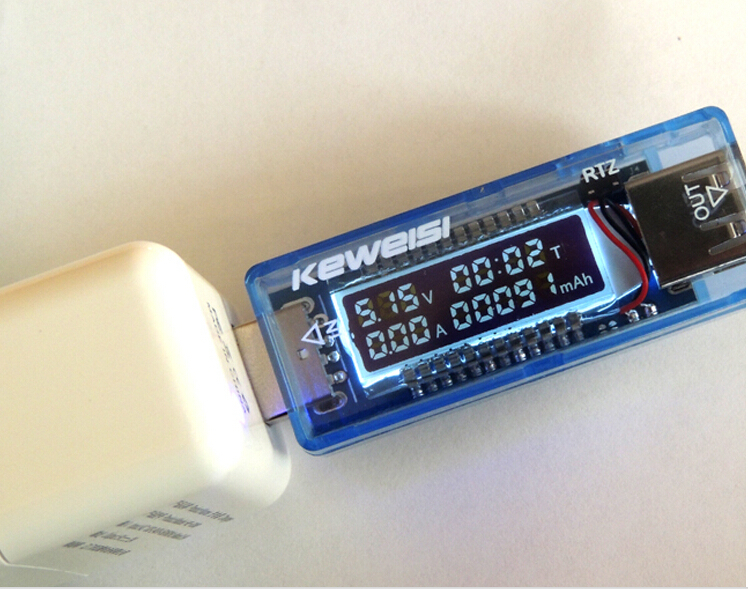 2016 High Precision version White 4 bit USB detector voltmeter ammeter power capacity tester meter voltage current mobile0037(China (Mainland))