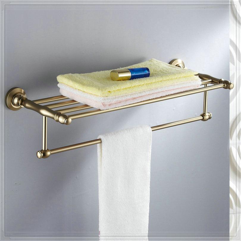 Antique space aluminum fashion towel rack towel bar for Bathroom accessories towel racks
