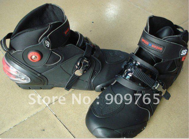 Фотография Free Shipping Man Waterproof Boots Short Boot Guard Motorcycle Bike back protector racing ATV MX Black