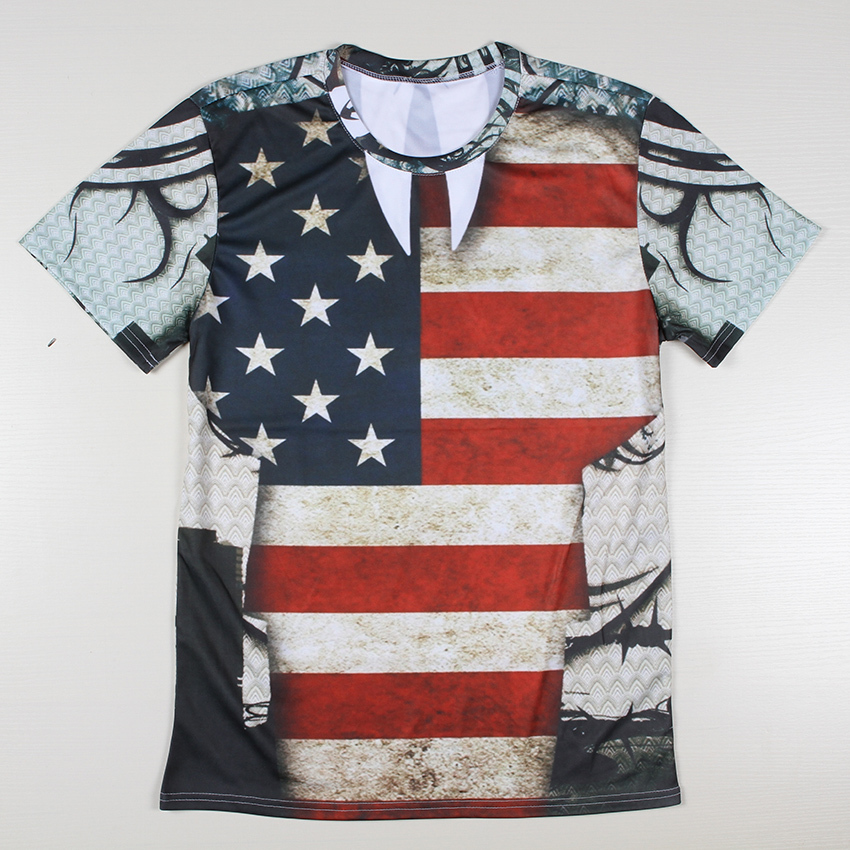 New cheap american flag t shirts mens high quality for Best quality shirts to print on