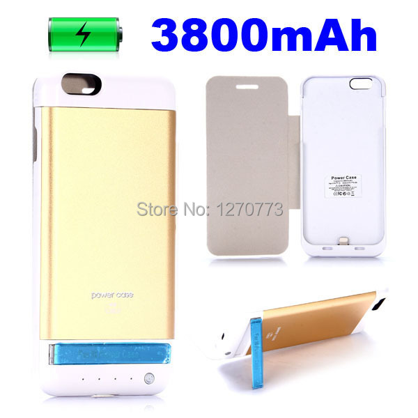 3800mAh Rechargeable External Battery Backup Charger Case Cover Pack Power Bank Fits for Apple iPhone 6 Stock in US(China (Mainland))