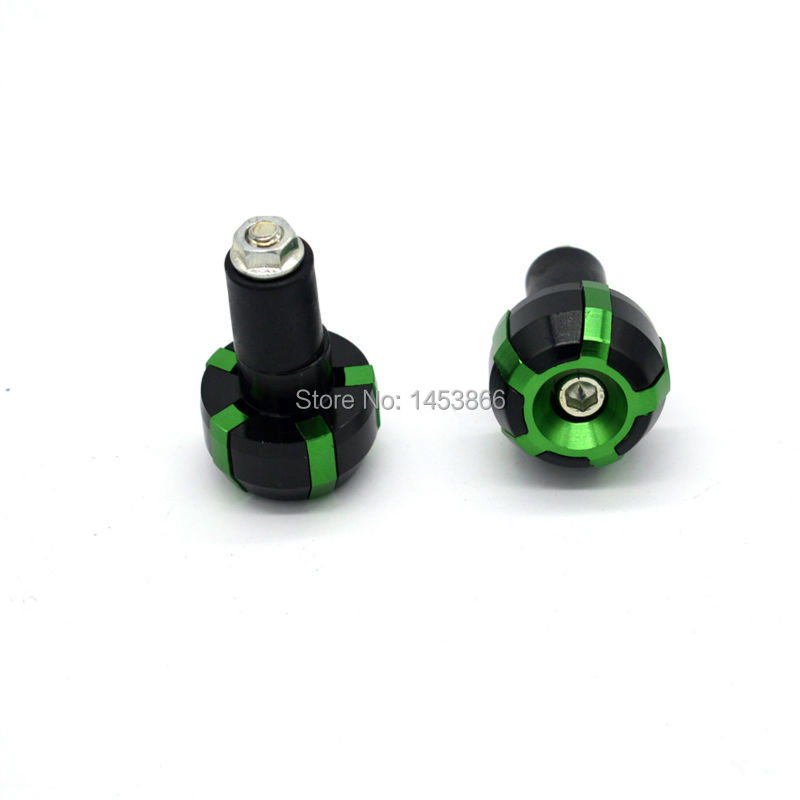 Green Black CNC Aluminum motorcycle Grips Bar Ends Plugs for 22mm 7/8'' Handlebar(China (Mainland))
