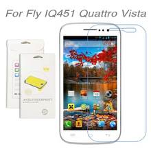 3pcs/lot For Fly IQ451 Quattro Vista,High Clear LCD Screen Protective Film Screen Guard Screen Protector Film For Fly IQ451