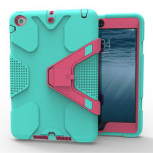 Safe Armor Shockproof Drop Resistance TPU +PC Hard Case Cover for IPad Mini 1/2/3(China (Mainland))