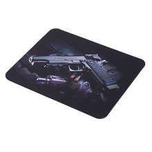 new Gun Picture Anti-Slip Laptop PC gaming Mice Pad Mat Mousepad For Optical Laser Mouse Wholesale(China (Mainland))