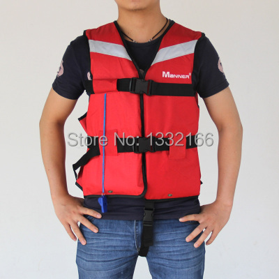 Free Shipping Popular red Prevention Flood Foam Swimming Life Jacket Vest+Whistle for Adult swimming wears(China (Mainland))