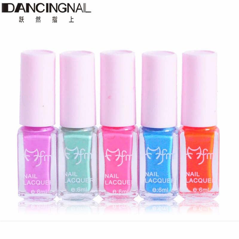 5Pcs New Nail Polish Lacquer Set Multi-Color Nails Art Varnish For Lady Girl Party Daily Beauty Nails-Manicure Tools(China (Mainland))