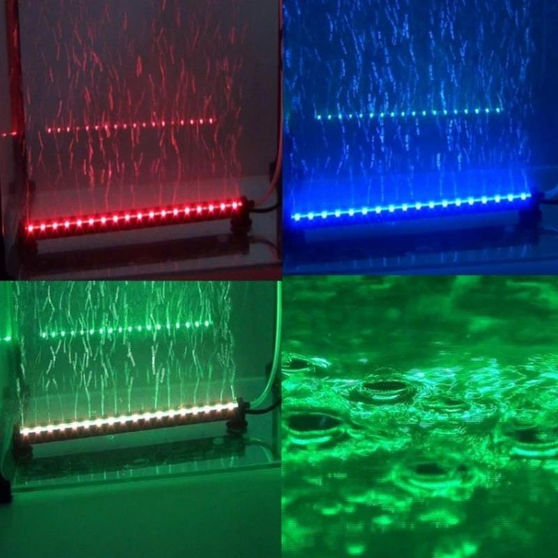 Remote RGB Colorful Air Bubble LED Aquarium Light Fish Tank Coral Lamp Tube Hot underwater light for fish LED Bubble Light(China (Mainland))