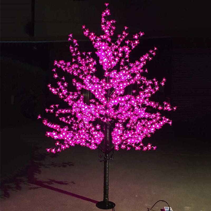 Luxury Handmade Artificial LED Cherry Blossom Tree night Light Christmas new year wedding Decoration Lights 1.8m tree light led(China (Mainland))
