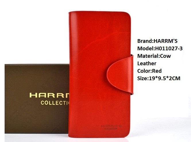 Harrms 2014 new fashion hot women's medium-long wallet casual hasp women's cowhide wallet,female bag(China (Mainland))
