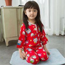 0-2Y infant baby pajamas 2016 new summer newborn baby lovely pijamas sets cartoon printed toddler boys girls sleepwear suits(China (Mainland))