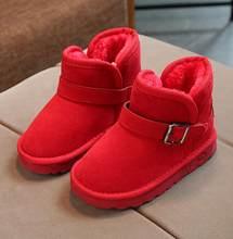 Erkek Kış Ayakkabı Moda Çocuklar Kar Botları Boyutu 22-37 Çocuk Sıcak Kalın Kürk Ayak Bileği Kar Botları Toddler Kız çizmeler #8IR0437(China)