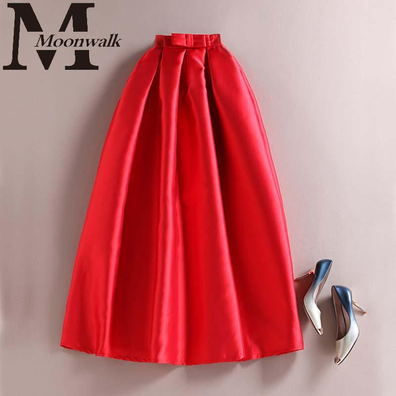 High Waist Skirt 2015 Autumn Winter Fashion Pleated Adult Red Tutu Gown Skirts Ladies Elegant Print Vintage Saias femininos S856Одежда и ак�е��уары<br><br><br>Aliexpress