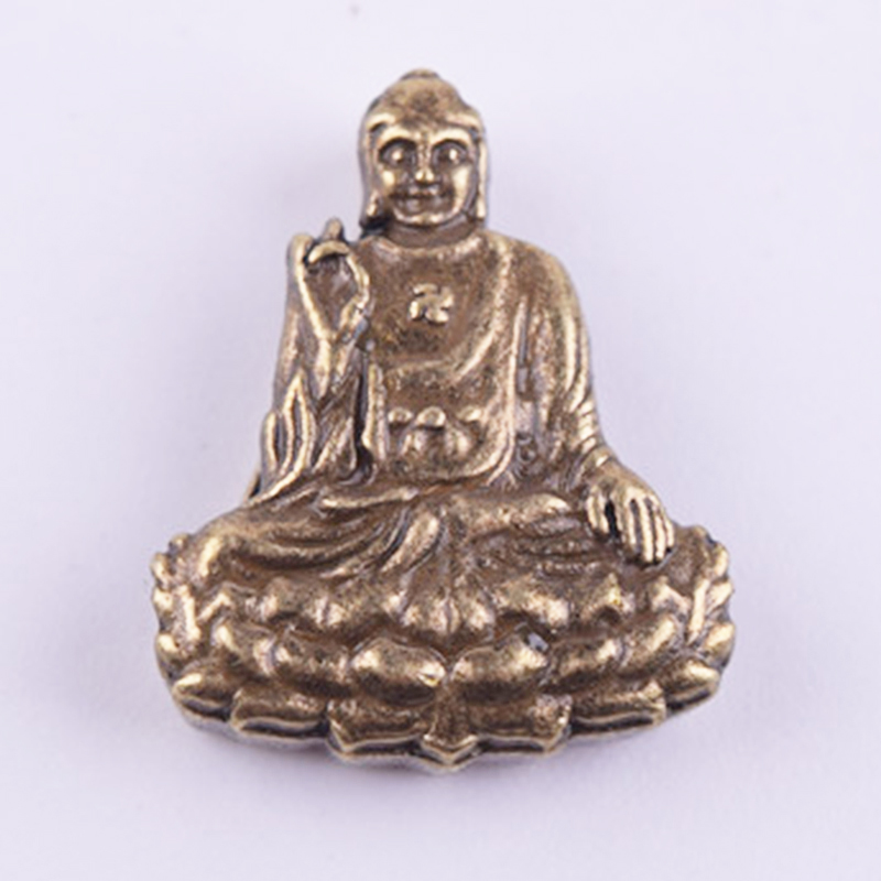 Fashion 50Pcs/lot Antique Silver Bronze Plated metal alloy Buddha Charms Beads Fit for bracelet necklace crafts Making DIY(China (Mainland))