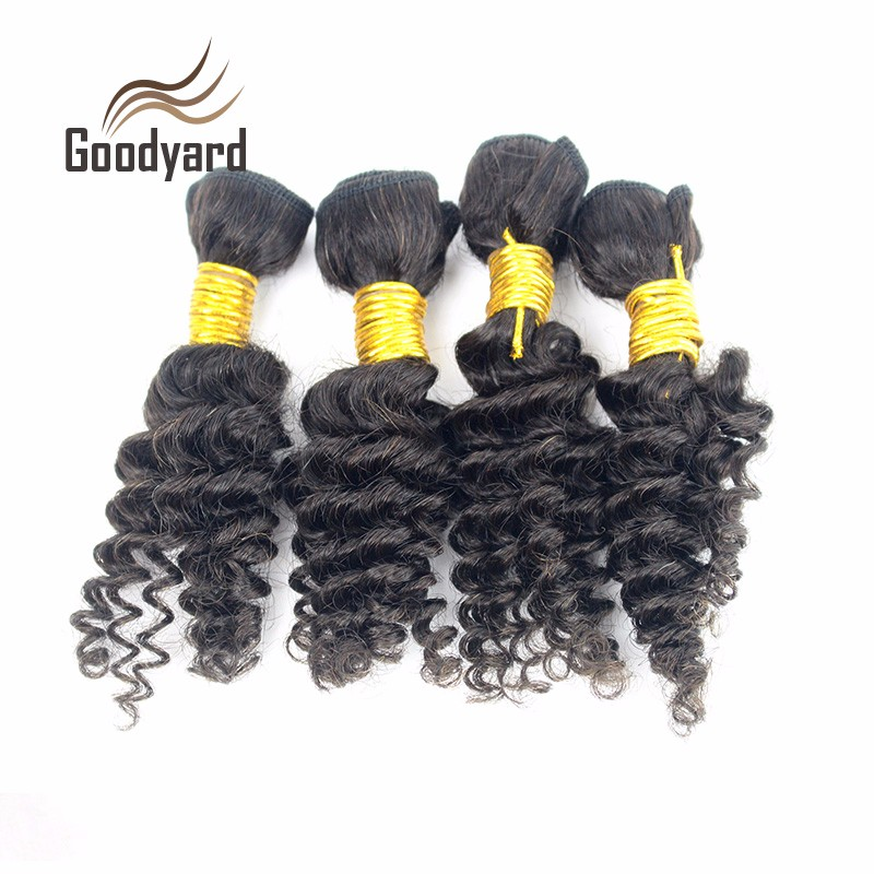 Short Size 8Inch Brazilian Kinky Curly 4 Bundles/lot 50g 7A Human Hair Extension Cheap 100% Human Hair Weave
