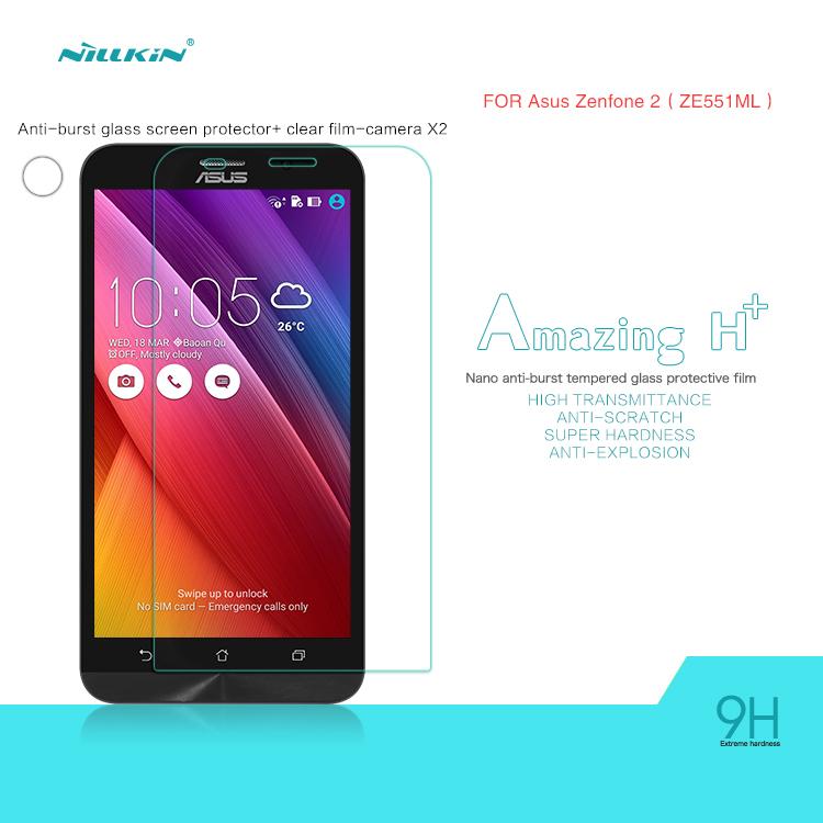 Защитная пленка для мобильных телефонов NILLKIN H + Nano Asus Zenfone 2 ZE551ML ZE550ML + антигравийная пленка nano fusion