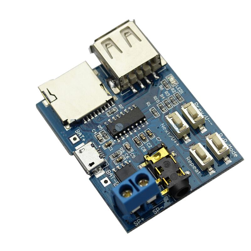 Гаджет  TF card U disk MP3 Format decoder board module amplifier decoding audio Player None Электронные компоненты и материалы