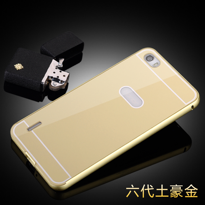 Honor6 Luxury Ultra thin Aluminum Metal+ Acrylic Glass Back Cover Case for Huawei honor 6 Phone bags