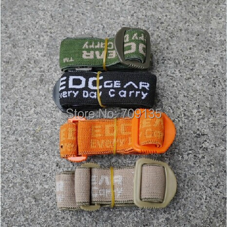 2PCS/LOT Elastic strap for headlamp EDC military backpack safety helmet & tactical goggles width 2.54cm elastic band max 1 meter(China (Mainland))