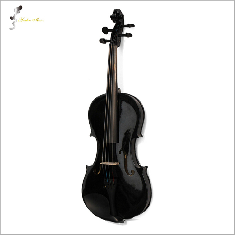 Black Violin Violin 1/4 3/4 4/4 1/2 1/8 Sizes Available Violin in Full Set with Bow, Rosin and Case<br><br>Aliexpress