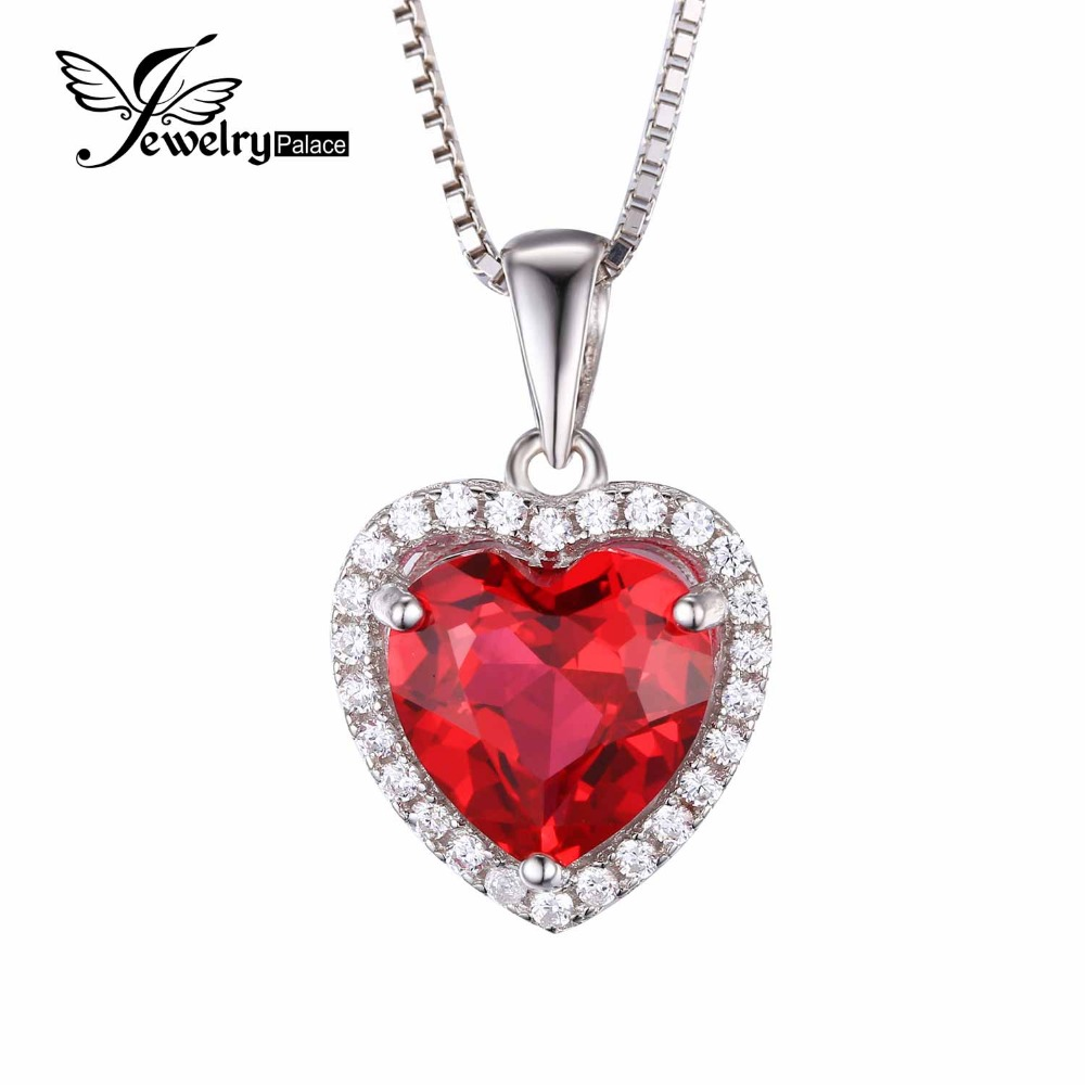 Feelcolor 4.5ct Pigeon Blood Red Gem Stone Ruby Pendant Heart For Women Wedding Genuine Solid 925 Sterling Silver Fine Jewelry(China (Mainland))