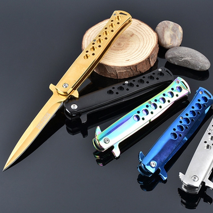 New Product!Stainless steel folding hunting knife camping pocket knife tactical knifes outdoor survival tool rescue tools(China (Mainland))
