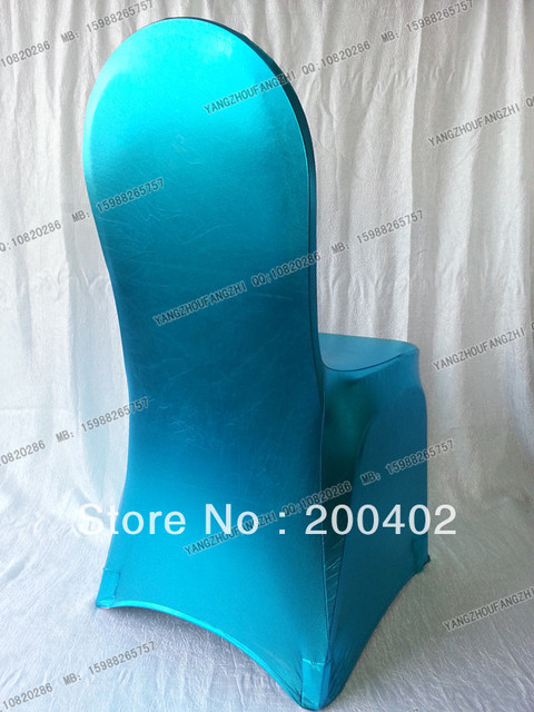 free shipping turquoise metallic spandex chair cover for weddings/wedding chair covers