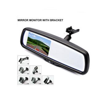 """4.3 """" TFT LCD заднего вида кронштейн монитор зеркала помощи при парковке с 2 RCA видео-плейер вход"""