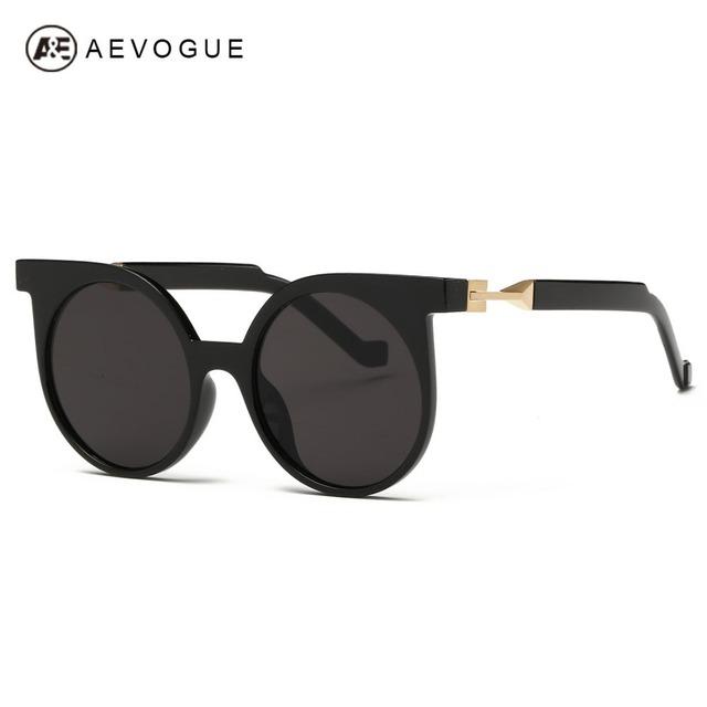 Aevogue кошачий глаз плоским рамка покрытие линз марка очки с женщины Высокое качество солнцезащитные очки óculos де золь UV400 AE0262