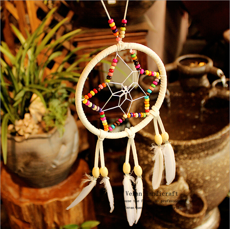Colorful Beaded Dream Catchers, White Feather Dream Catchers For Sale, Indian Dream Catcher Decoration Home Car Dreamcatcher