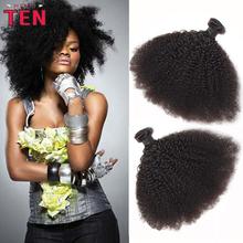 Rosa Hair Products 7A Unprocessed 3 Bundles Lot Brazilian Virgin Hair Kinky Curly Virgin Human Hair Brazilian Afro Kinky Curly