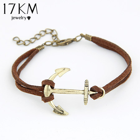 Fashion Korea personality Anchor bracelet bangle jewelry! cRYSTAL sHOP(China (Mainland))