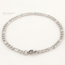 Figaro Chain Necklace Men or Women for Christmas Gift Stainless Steel Necklace Jewelry Accessories 4mm 45