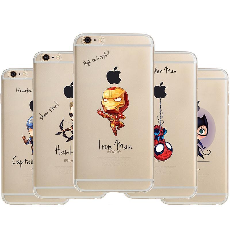 Cartoon Batman for iphone6 Bat ManSuper Man America Capatain phone case hard Back cover Skin for apple iphone 6 4.7(China (Mainland))