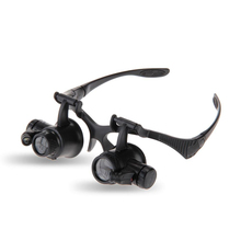 LED Eye Magnifying Glasses Magnifying Loupe Magnifier 10x 15x 20x 25x For Jeweler Watchmaker Black New Fashion