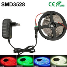 Buy 5m 300leds RGB led strip light led/m White/Warm White/Red/Green/Blue/Yellow 3528 led Flexible tape lamp DC12V Home Decoration for $4.94 in AliExpress store