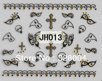48 styles nail stickers & Decals The pirate series design individual package 20pcs/lot 3D ART decoration polish