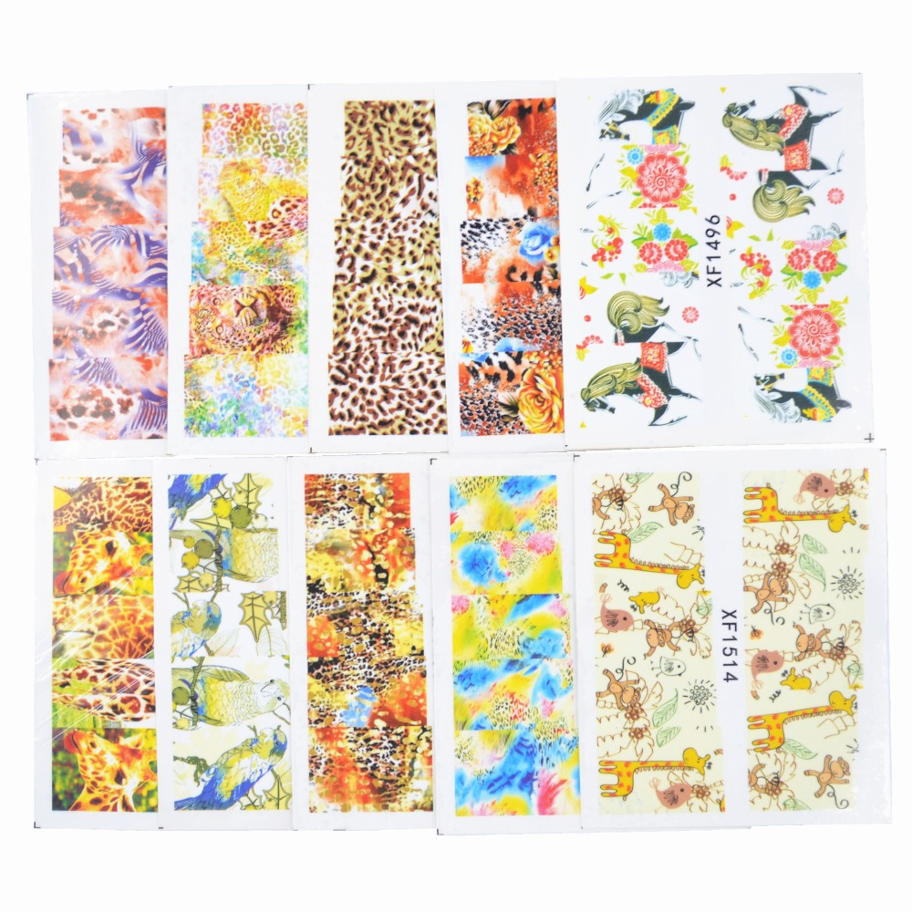 Yzwle Mix 50pcs Nail Art Water Transfer Flower Design Nail Sticker Watermark Decals Diy Beauty Nail Tips Decoration Wraps Tools(China (Mainland))