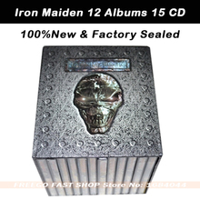 New IRON MAIDEN Complete 12 Albums 15 CD Heavy Metal CD Factory Sealed Box Set Free shipping(China (Mainland))