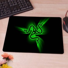 Green  Logo Best Game Custom Mousepads Rubber Pad