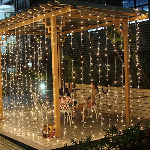 3M x 3M 300 LED Fairy String Curtains Light Window Icicle Lights Ideal for Indoor Outdoor Home Garden Christmas Party Wedding(China (Mainland))