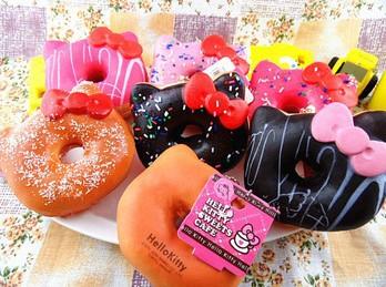 Large 10cm Kawaii Hello Kitty Donut Jumbo Squishy Charm Squishy Buns Mobile Phone Straps Pendant Wholesale KCS(China (Mainland))