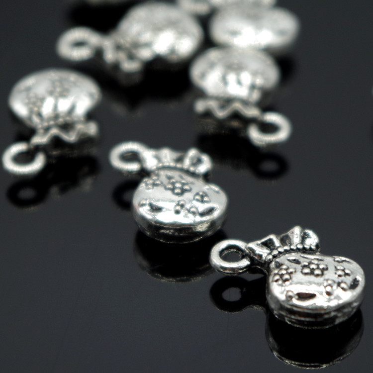 12*14mm Antique Silver European Fashion Beads Purse&Money Bag Pendant DIY Jewelry Zinc Alloy Bead Fit Bracelet & Bangles 30pcs(China (Mainland))