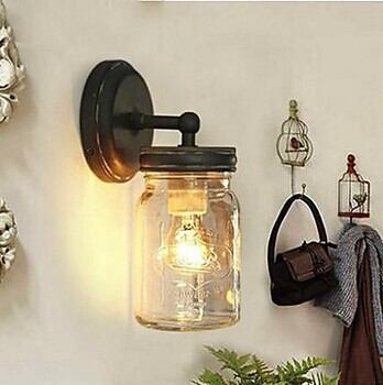 Фотография 1 Light Loft Style Edison Vintage Industrial Wall Lamp Light Wall Sconce Bulb Included Arandela Lamparas De Pared E27