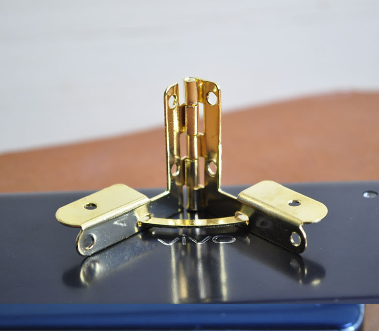 Golden color special shaped steel furniture hinge jewelry case wine box hardware folding hinge adjustable angle 36*32 mm(China (Mainland))