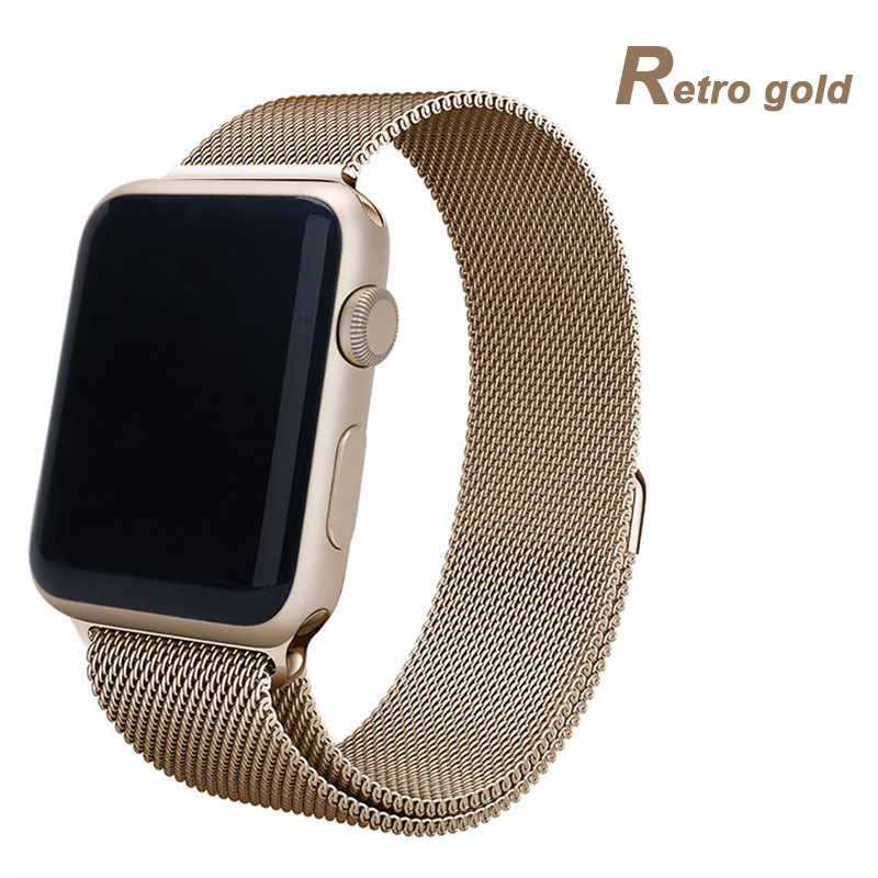 Luxury Stainless Steel Band For Apple iWatch 38/42mm WatchBand Bracelet Strap Belt For Apple Watch Sport Edition+Protective film(China (Mainland))
