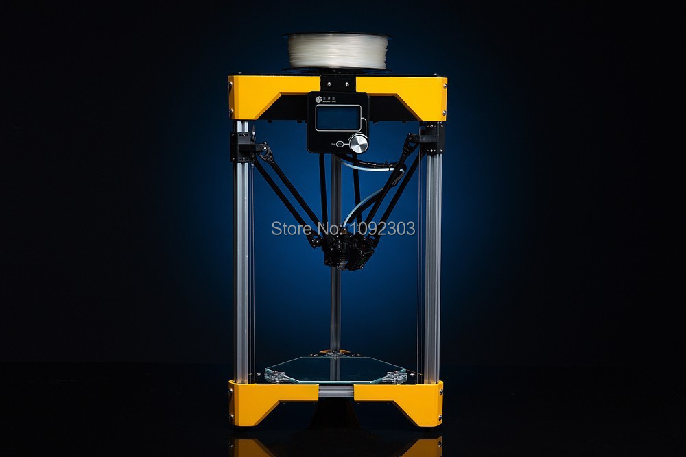 High Accuracy 3D Printer Delta Printer 3D Metal Printer Support Off Line Printing For Industrial Design 3d Printing DIY kit(China (Mainland))
