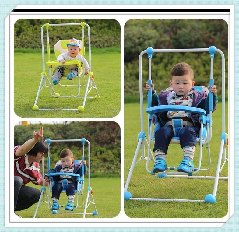 Red,Blue,Green Colors Kids Swing Foldable To Carry Everywhere Steel Frame Oxford Fabric Made Playground Swing Chair For Baby<br>