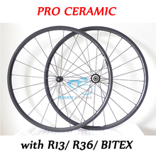 Buy Pro Ceramic 24mm 700C Carbon Road Clincher Tubeless Wheelset 23mm Wide V Shaped Bike Wheels POWERWAY R13/R36 CERAMIC Hubs for $470.25 in AliExpress store