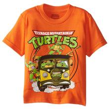 2016 New Kids Teenage Mutant Ninja Turtles T shirt Short Sleeve 100% Cotton Children TMNT T- shirt Baby Boys Tortoise Tees
